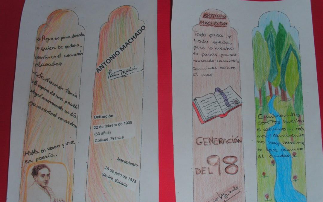 Día del Libro 2014: CONCURSO DE MARCAPÁGINAS ANTONIO MACHADO (1º Y 2º DE LA ESO)