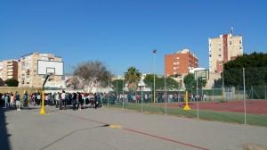 Todo el instituto se ubica en el lugar de concentración