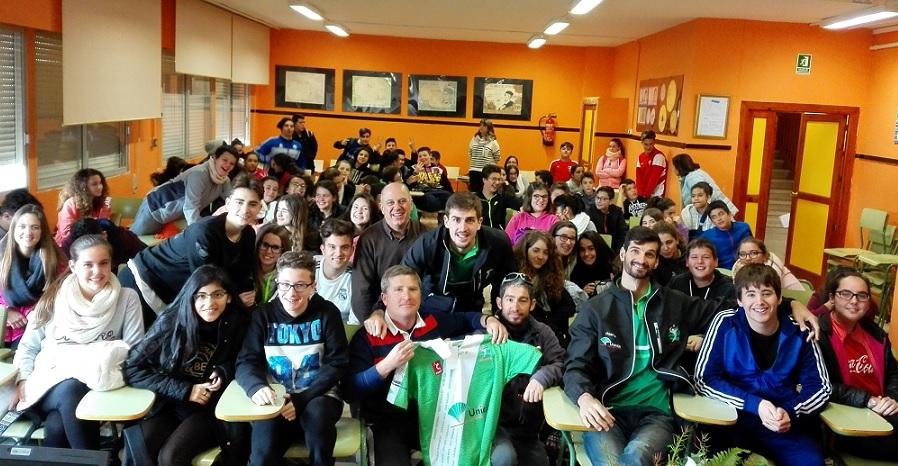 Deporte es Vida. Visita del Club Voleibol Unicaja Almería