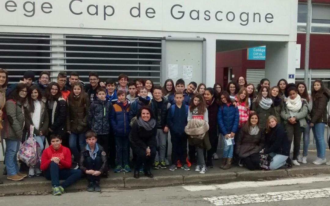 INTERCAMBIO ESCOLAR A FRANCIA. Collège Cap de Gascogne de  Saint Sever