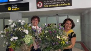 Flores a la llegada