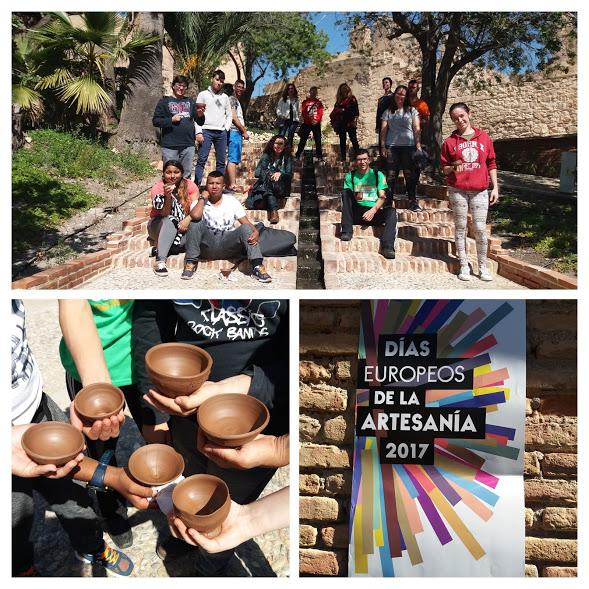 Los alumn@s del PEFPB de AGROJARDINERÍA participan en los DÍAS EUROPEOS de la ARTESANÍA celebrados en la ALCAZABA.