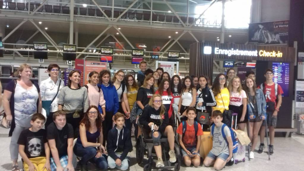 "Vuelta del alumnado del ""Proyecto Mes"" de Saint Sever"
