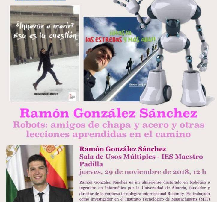Charla del ingeniero Ramón Gonzáles Sánchez en el IES Maestro Padilla