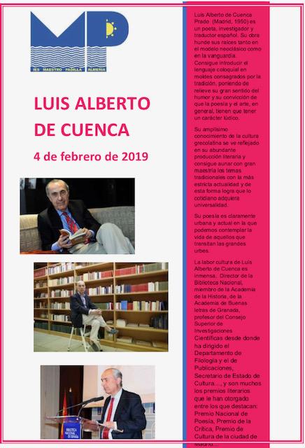 Fomento de la lectura desde el departamento de Legua y Literatura. Concurso Trivial de Luis Alberto de Cuenca