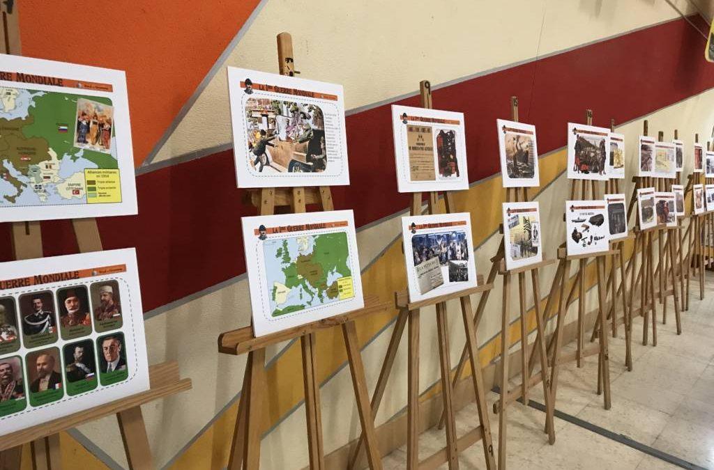 EXPOSICIÓN «PRIMERA GUERRA MUNDIAL» Y ENTREGA DE CERTIFICADOS A2, B1 Y B2 EN FRANCÉS