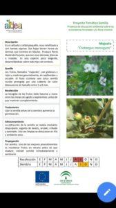 Ficha sobre características especies silvestres