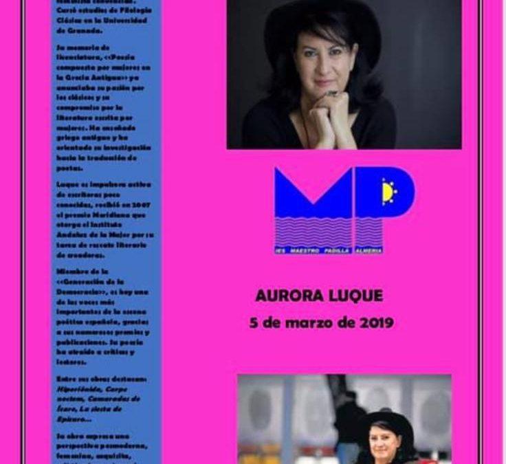 Queremos felicitar a Aurora Luque, ganadora del Premio Loewe de Poesía