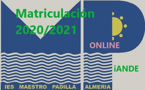 Matriculación 2020/2021