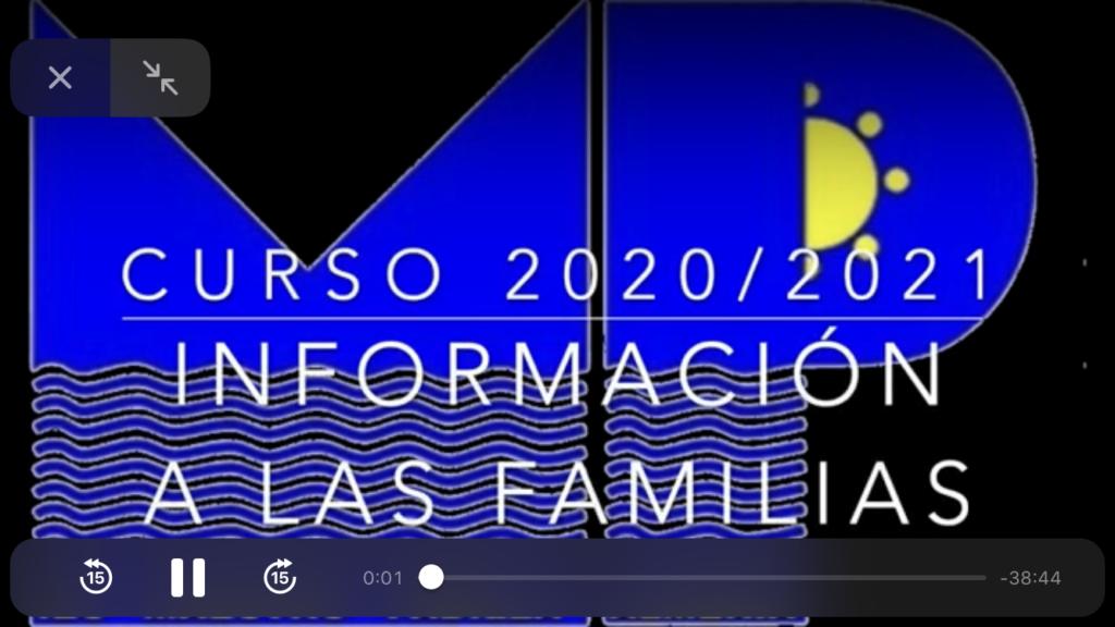 VÍDEO INFORMATIVO A LAS FAMILIAS Y TUTORES LEGALES