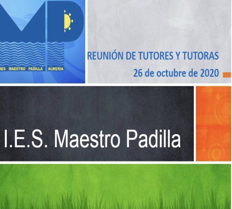 REUNIÓN DE TUTORÍAS CON FAMILIAS . 26 DE OCTUBRE