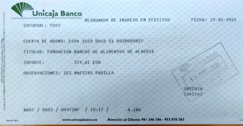 Recaudación para BANCO DE ALIMENTOS de Almería