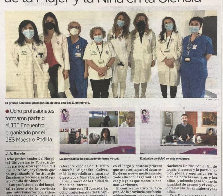 IlI Encuentro «Mujer y Ciencia» en los medios