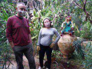 Noelia y su tutor laboral, Carlos Collado