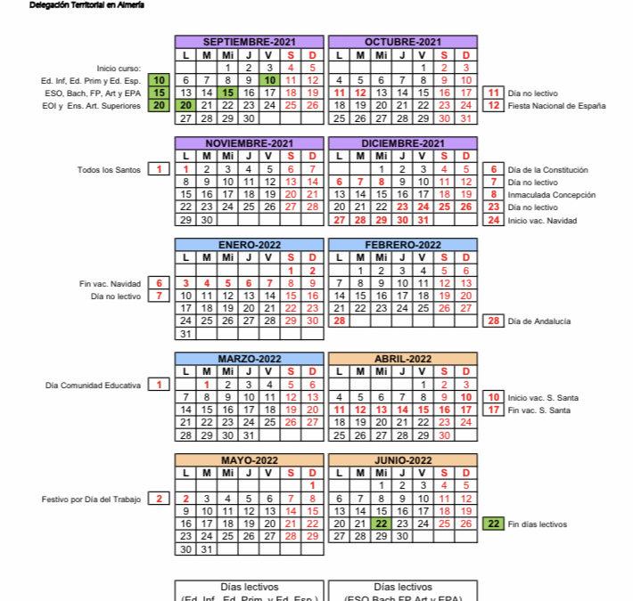 Comienza el curso escolar 2021/22